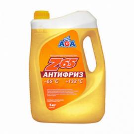 AGA043Z Антифриз,готовый к прим.желтый, -65С 5кг. 1шт./3шт.