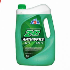 AGA049Z Антифриз,готовый к прим.зеленый -42С 5кг 1шт./3шт.
