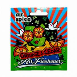 ASP11 Ароматизатор подвесной Апельсин-Кедр AIR SPICE 1/50шт