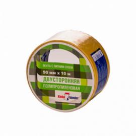KLEBEBANDER Скотч лента двусторонний 50мм-10м полипропилен КРР510Т 1/36