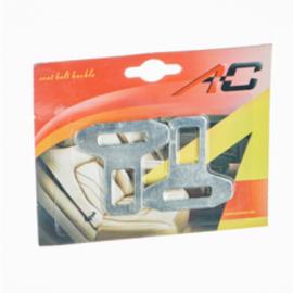 Заглушка ремня безопасности (2шт) металл в блистере K-38818
