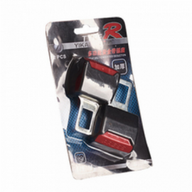 Заглушка ремня безопасности с крепежом под ремень (2шт) металл-пластик K-37814