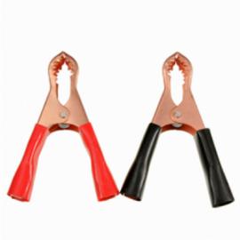 Зажимные крокодилы для проводов прикуривателя (металлические, малые) sim-plast 1шт.